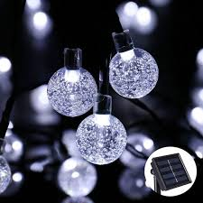 christmas lights outdoor font solar powered string lights outdoor globe christmas light 19 7ft 30