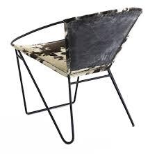 pouf en peau de vache fauteuil vintage montecristo peau de vache