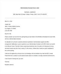 sample administrative assistant cover letter u2013 aimcoach me