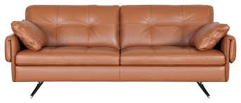 clementi leather sofa contemporary sofas by scandis