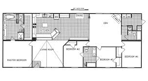 4 bedroom floor plan c 9916 hawks homes manufactured
