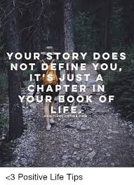 Define Memes - your story does not define you lt s just a chapterin 3 positive