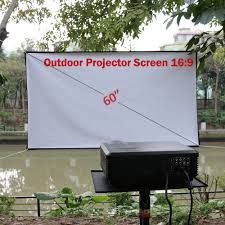 home theater 60 u0027 u0027 projector screen hd outdoor projection 16 9