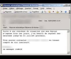 outlook message absence bureau absence du bureau les mails les plus drôles planet