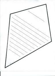 blank kite template free download