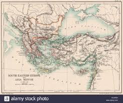 Asia Minor Map by Balkans C1210 Ad South Eastern Europe U0026 Asia Minor Konya Iznik
