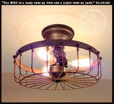 industrial flush mount light rustic industrial flush mount ceiling light cage the l goods