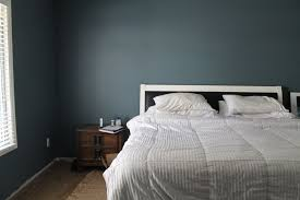 dark gray blue bedroom interior design