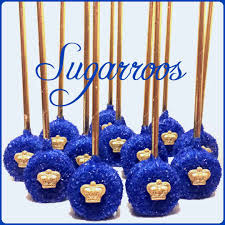 12 royal prince oreo pops royal blue and gold candy buffet