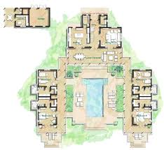 luxury home blueprints large home plans with courtyard hacienda house center mcm design