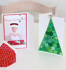 Homemade Christmas Card Ideas by Messy Play Diy Button Christmas Cards
