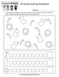 free printable christmas counting worksheet for kindergarten