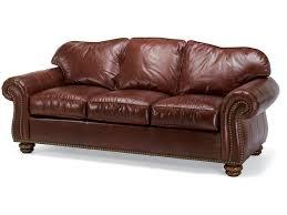 Flexsteel Curved Sofa by Flexsteel Living Room Leather Sofa With Nailhead Trim 3648 31