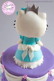 princess hello kitty cake and cupcakes cakecentral com
