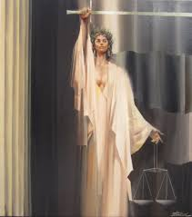 Justice Is Blind Justice Is Blind Oil On Canvas Charles Billich Billich Gallery