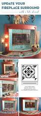 update your fireplace surround with a stencil stencil stories