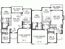 Duplex Floor Plans With 2 Car Garage Ranch House Plan With 3000 Square Feet And 4 Bedrooms From Dream