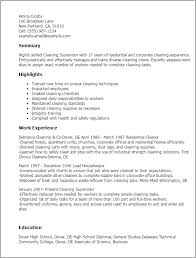 19 house cleaning resume sample cv resume examples to download