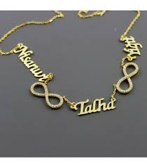 Sterling Silver Personalized Necklaces Four Names Infinity Personalized Necklace In Sterling Silver
