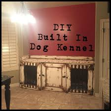 diy built in dog kennel in our kitchen love how it turned out