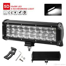 led security light bar 9inch 90w 5d lens led light bar waterproof ip68 flood spot work l