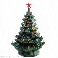 ceramic christmas tree with lights limited edition traditional green ceramic christmas tree 24 inches