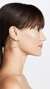 large hoop earrings gorjana arc large hoop earrings shopbop