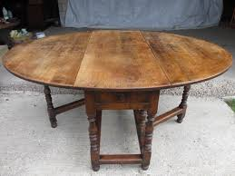 Oval Drop Leaf Dining Table Large Oak Oval Gate Leg Drop Leaf Dining Table With