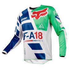 fxr motocross gear 2018 fox racing 180 sayak jersey green sixstar racing