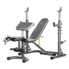 olympic style weight bench gold s gym xrs 20 olympic workout bench with squat rack walmart com