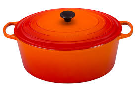 le creuset signature enameled cast iron 15 1 2 quart oval goose