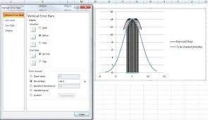 advanced graphs using excel shading under a distribution curve