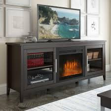 furniture black wooden tv cabinet with fireplace and book storage