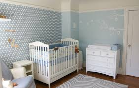 traditional baby boy nursery ideas with unique design painted wall