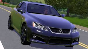 lexus purple fresh prince creations sims 3 2009 lexus is f