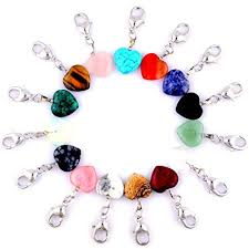 bracelet clasps diy images Heart stone charm pendant keychain healing pointed jpg