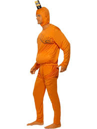 mens orange tango man fancy dress costume 90s tv licensed stag