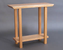 Skinny End Table Small Side Table Tiger Maple U0026 Cherry Narrow End Table Entry