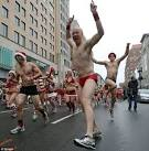 On Prancers and Vixens: Speedo Santa Run fills Boston's street