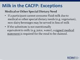cacfp menu template meal patterns guidance for day care centers