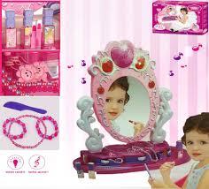 Toy Vanities Girls Vanity Beauty Makeup Dresser Glamour Mirror Toy W Light
