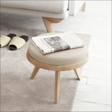 Ottoman Translation by New Fashion Leather Stool Ottoman Solid Wood Stool Round Ottoman