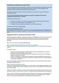 Employee Notice Of Termination employment termination letters 10 free word pdf excel format
