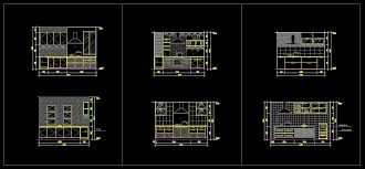 Autocad Kitchen Design by Kitchen Design Template Cad Files Dwg Files Plans And