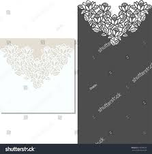 laser cut invitation card lasercut pattern stock vector 418784524