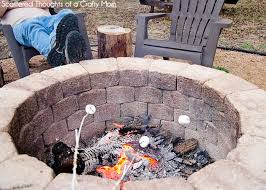 simple diy outdoor fire pit outdoorbeing