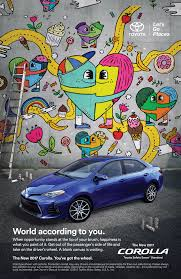 toyota corolla commercial artwork for the 2017 toyota corolla ad caign on behance