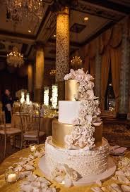 wedding cake gold cakes desserts photos blush gold and ivory wedding cake