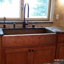 Kitchen Cabinet With Sink Hundreds Of Photos Of Copper Sinks Installed In Kitchens