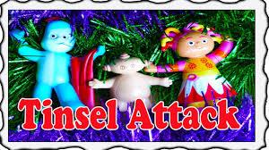 night garden attack christmas tinsel learning
